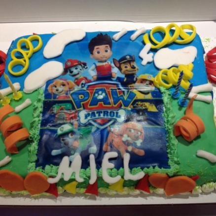 American cake met print